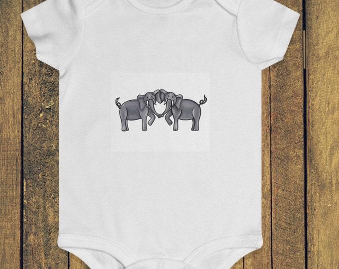 Elephant Heart White | Infant Rip Snap Tee