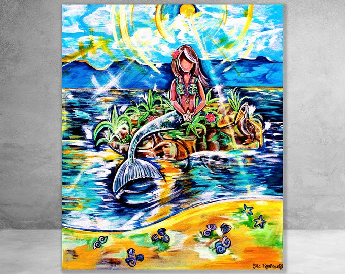 Mermaid | Canvas Gallery Wraps | Various Sizes