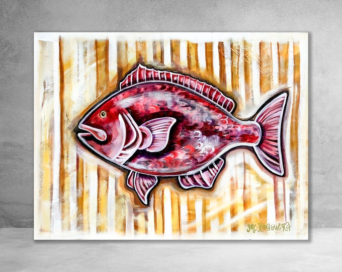 Seersucker Snapper | Canvas Gallery Wraps | Various Sizes