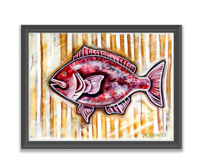 Seersucker Snapper | Premium Matte Horizontal Print | Various Sizes