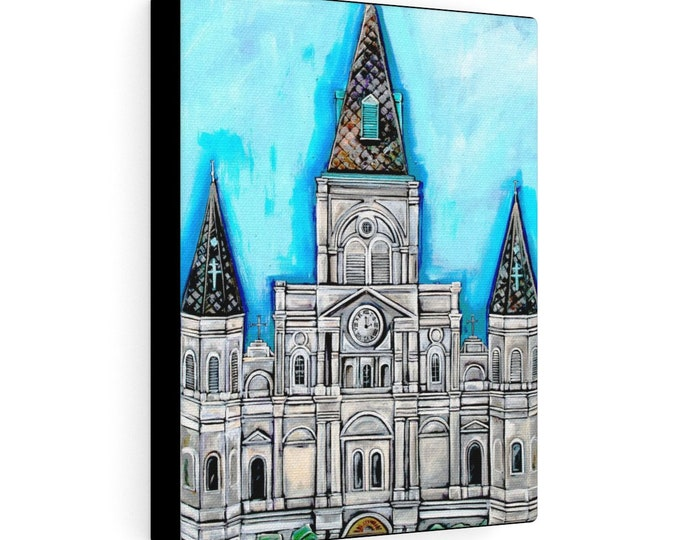 Spires of St. Louis Cathedral | Various Sizes | Architectural Art | Home Decor | Canvas Gallery Wrap | Wall Art | Reproduction