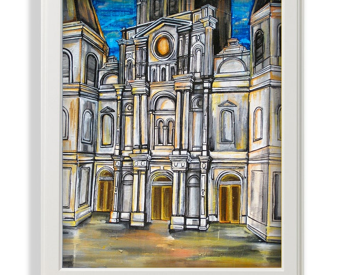 St. Louis Cathedral | Premium Matte Print | Various Sizes | Architectural Art | Reproduction | Unframed
