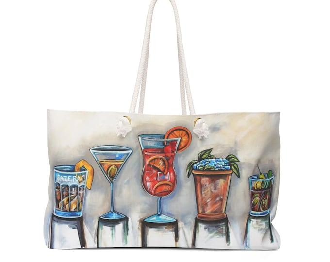 Cocktails | Sazerac, Martini, Hurricane, Mint Julep, Blood Mary Weekender Bag