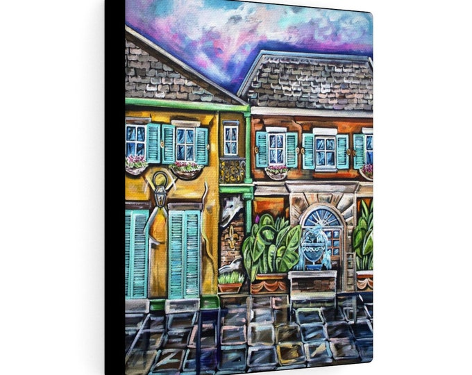 French Quarter Courtyard Sunset | Various Sizes | Architectural Art | Home Decor | Canvas Gallery Wrap | Wall Art | Reproduction