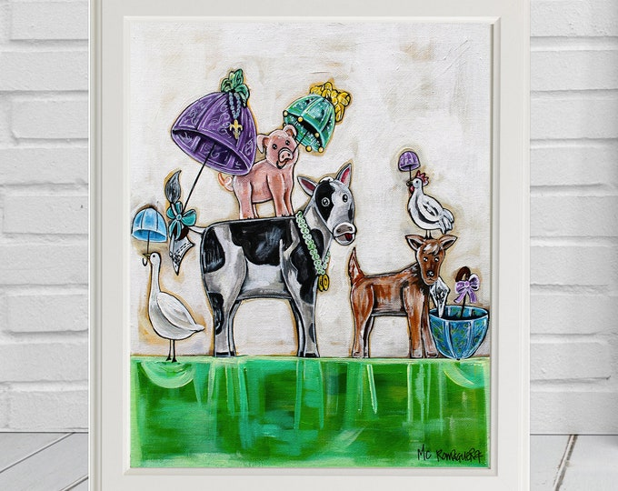 Barnyard Second Line | Premium Matte Print | Various Sizes | Children Art | Wall Decor | Reproduction | Unframed