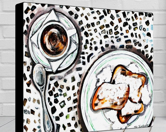 Beignets | Canvas Gallery Wraps | Wall Art Decor | Various Sizes
