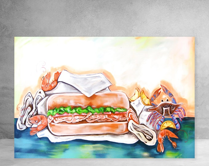 Oyster Po-Boy with Seafood | Canvas Gallery Wraps | Various Sizes