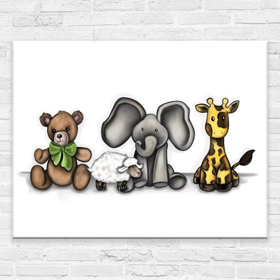 Best Friends | Canvas Gallery Wraps | Nursery Animal Art | Various Sizes