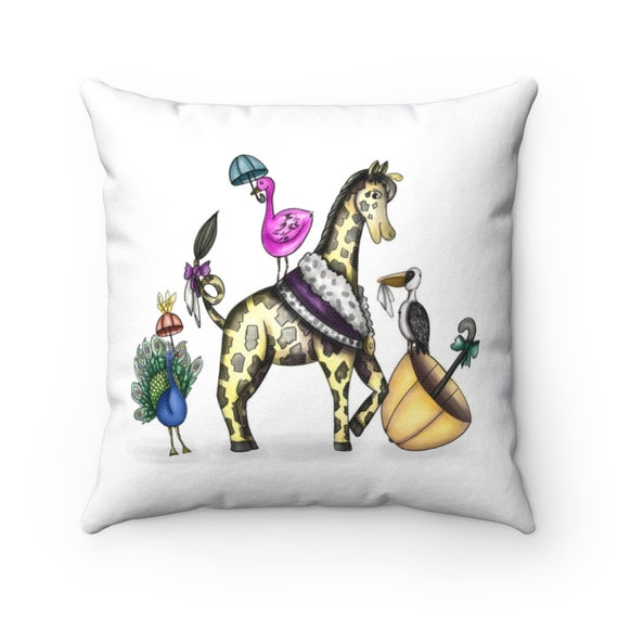 Happy Second Line Pillow | Spun Polyester Square Pillow