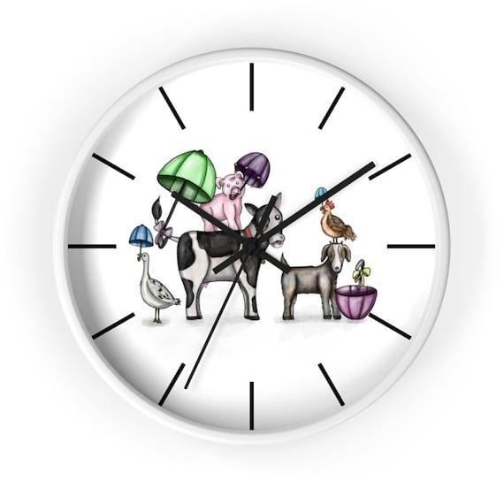 Barnyard Second Line | Wall Clock | Various Colors