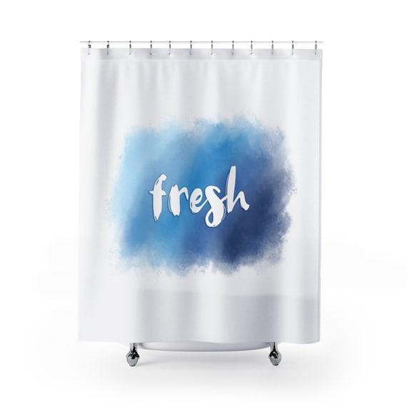 Fresh | Shower Curtains | Watercolor Design | Bathroom Home Decor
