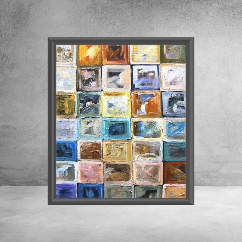 Block It  Premium Matte vertical posters  Modern Art  image 0