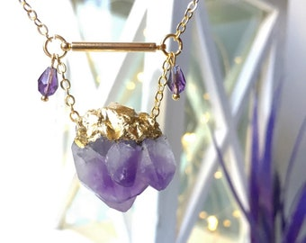 Amethyst Necklace Crystal Choker