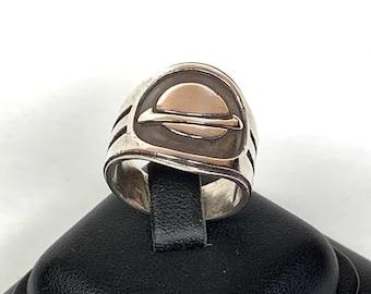 Handmade sterling silver Saturn ring