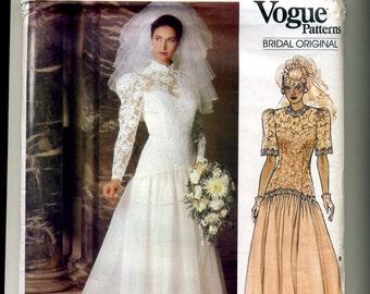 Vogue Bridal Original Pattern size 10 #1660, 1986