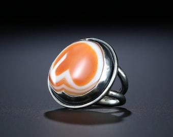 Sunnyside Agate Ring, Size 8.5
