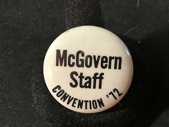 Vintage McGovern Staff - Convention '72 Presidenti