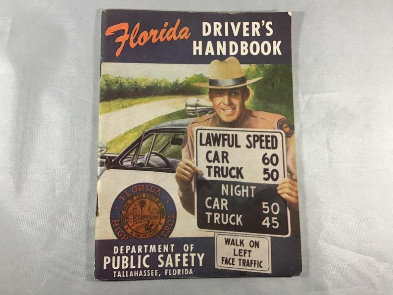 Florida Drivers Handbook >> Vintage 1953 Florida Driver S Handbook Florida Public Safety Manual With Governor Dan Mccarty On Rear Cover