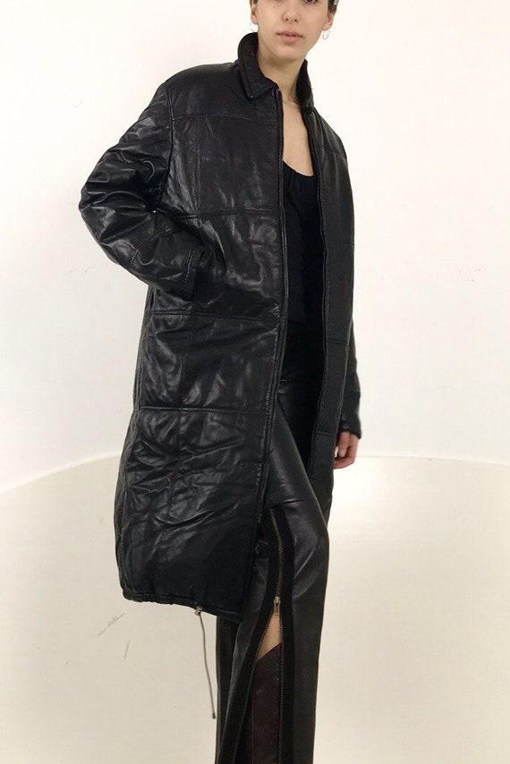 Italian Leather Puffer Jacket