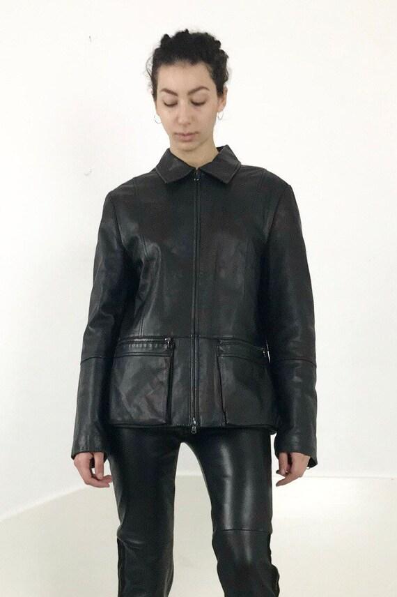 Italian Leather Chore Jacket
