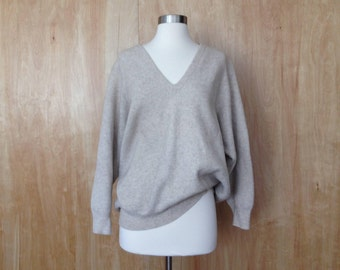 Perfect Italian Wool Deep V Neck Sweater