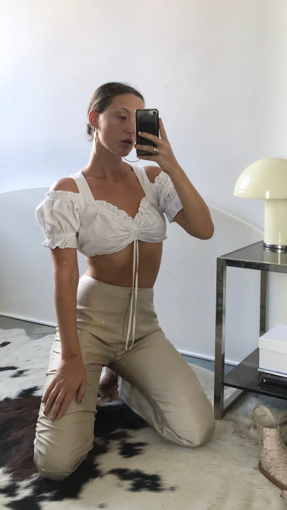 Cropped Cut-out Blouse