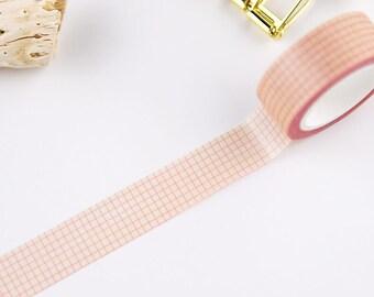 Pink lattice washi tape