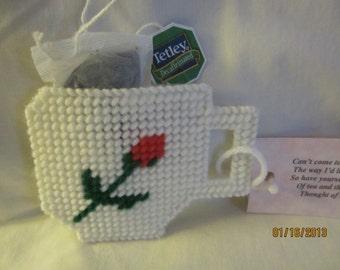 needlepoint tea bag holder