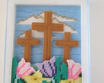 3 crosses wall hanging