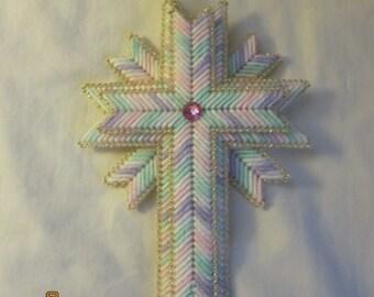 3 pastel cross wall hanging