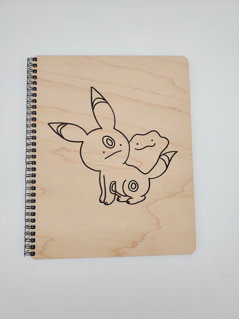 Pokemon Ditto Umbreon Wooden Notebook