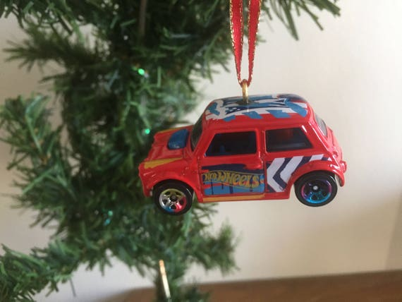 image 0 - Christmas Ornament Mini Cooper Hot Wheels Art Cars Collection Etsy