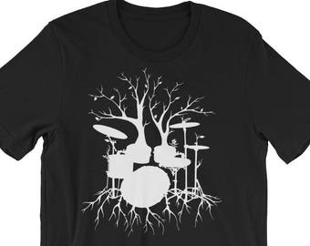 a0ffc42ae Drum T-Shirt, Drummer Shirt, Drummer Gift, Drums Tee, Drums, Music Shirt,  Musician Shirt, Men's Shirt, Musician Gift, Live the Beat (White)