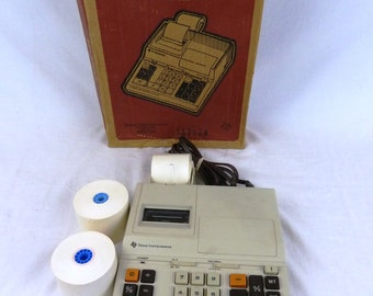 VTG Texas Instruments TI-5120 Electronic Printing Calculator Adding Machine with 2 Paper Rolls