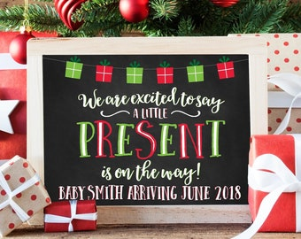 christmas pregnancy announcement etsy