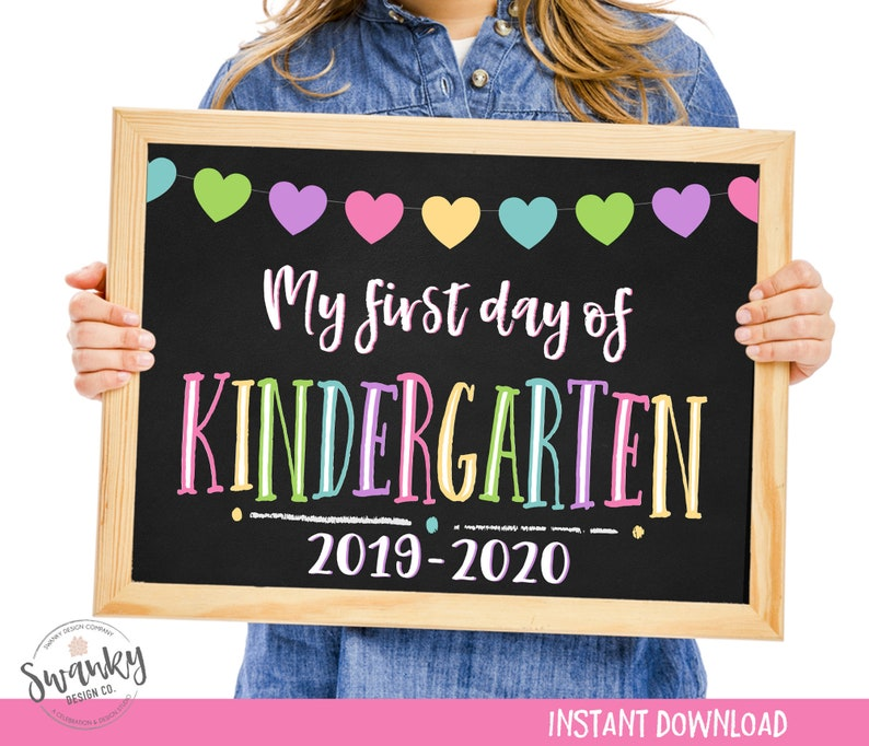 picture about First Day of Kindergarten Sign Printable named 1st Working day of Kindergarten Indication, Printable Very first Working day, Again Towards College or university Indication, To start with Working day of College or university Chalkboard Indicator, Kindergarten Indicator, 2019-2020
