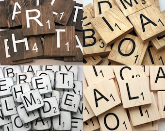 Large Scrabble Tiles - Scrabble Letters  - Scrabble Tiles Wall Art - Scrabble Wall Tiles - Large Scrabble Letters - Scrabble Wall Art