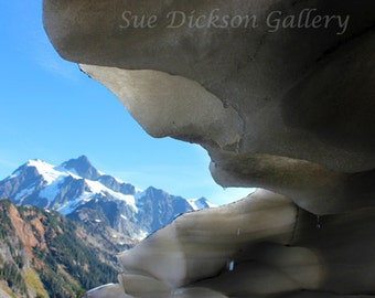 Mt Shuksan From Ice Cave Fine Art Digital Nature Photography