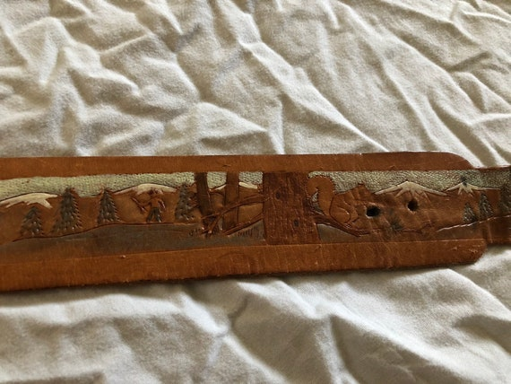Brown Country Belt Rodeo Tooled Leather Belt Gifts For Him Western Wear Cowboy Belt Western Bloom Brown Leather Belt With Snaps
