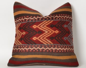 sofa pillow, striped pillow, pillow cover, striped kilim pillow, striped, bohemian, boho, woven pillow, anatolian pillow, stripe pillow