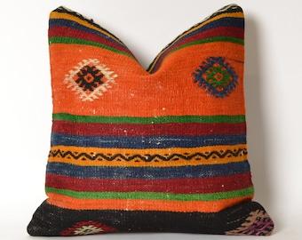 kilim pillow, turkish kilim pillow, decorative pillow, turkish pillow, pillow, vintage pillow, kilim pillows, kilim pillow cover boho pillow