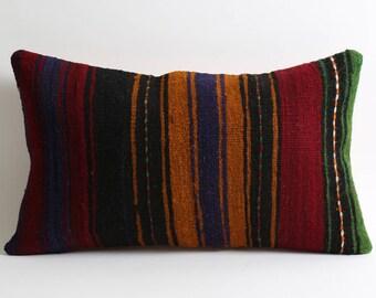 Bohemian Home Decor Kilim Cushion Cover 12x20 striped pillow