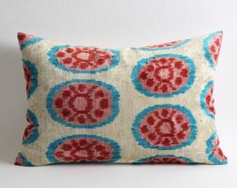 velvet pillow, velvet, ikat pillow, decorative pillow, ikat, silk, ikat pillows, throw pillow, velvet ikat pillow, silk pillow, pillow