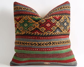 moroccan pillow, 16x16 kilim pillow, pillow cover, decorative pillow, moroccan pillows, decorative pillows, accent pillow, moroccan pillow