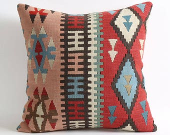 moroccan pillow, 20x20 kilim pillow, pillow cover, decorative pillow, moroccan pillows, decorative pillows, accent pillow, moroccan pillow