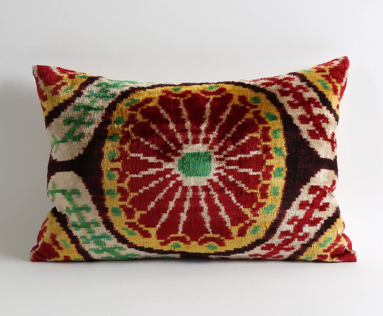 coussins décoration ikat velours oreiller coussin marocain | etsy