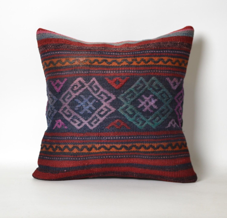 Turkish Kilim Pillow Home Decor Decorative Pillow Home: Rug Cushion Turkish Kilim Home Decor Pillow Kilim Cushion