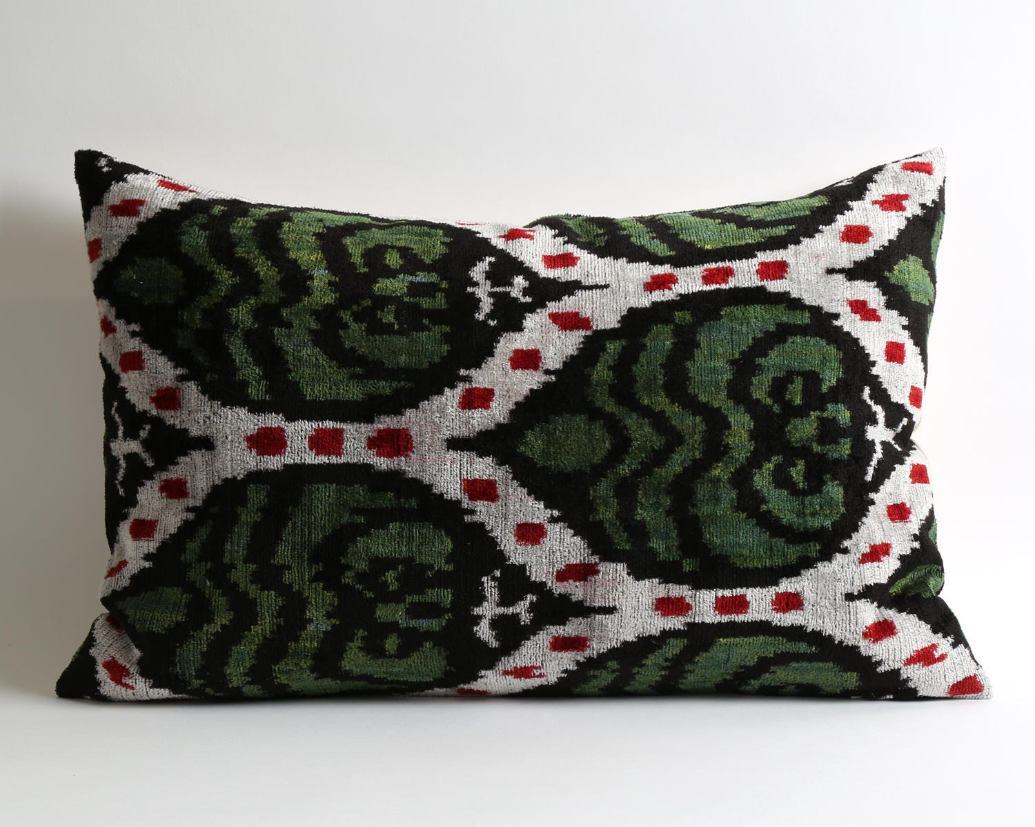 Green velvet pillow cover decorative