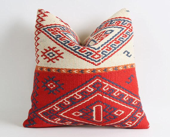 Kilim pillow cover 16x16 40x40cmOld | Etsy