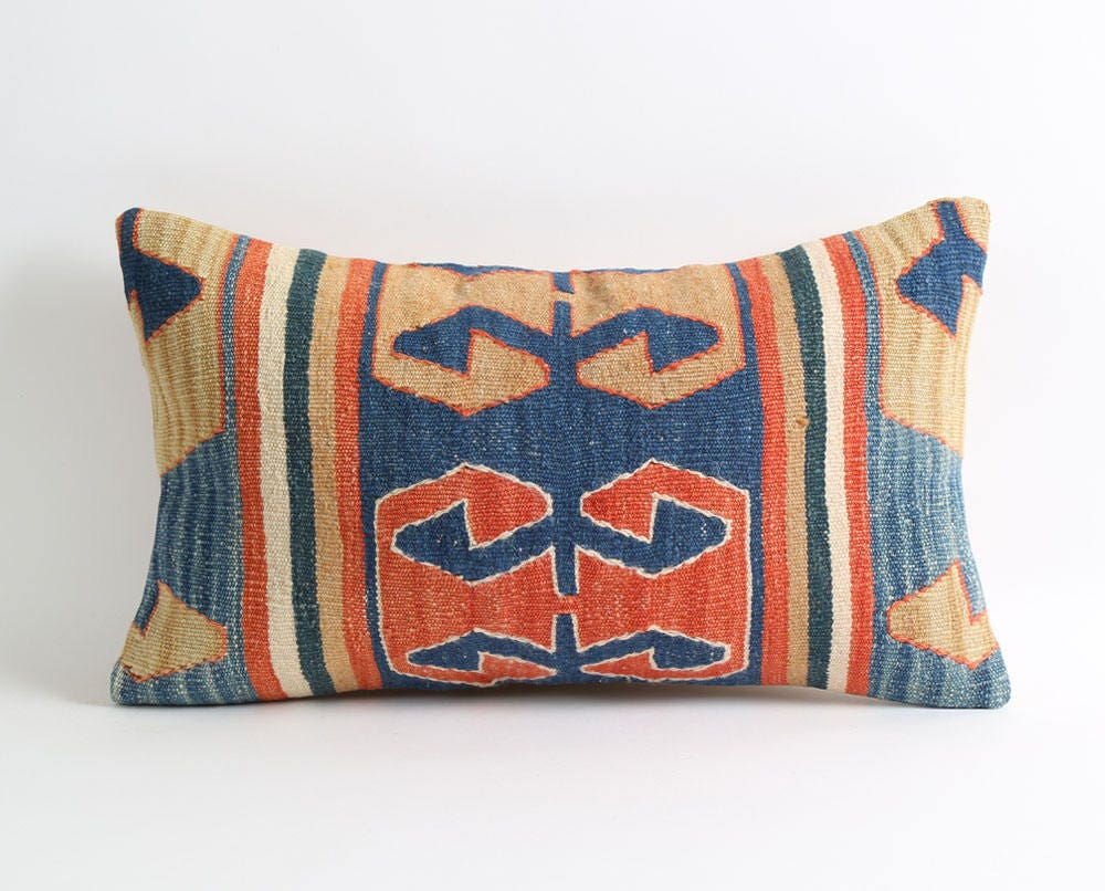 Kilim pillow decorative pillow chair cushions gypsy shabby ...